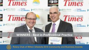 2016 Winner for best in Professional Practice
